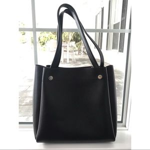 Neiman Marcus Saffiano Leather Tote Bag